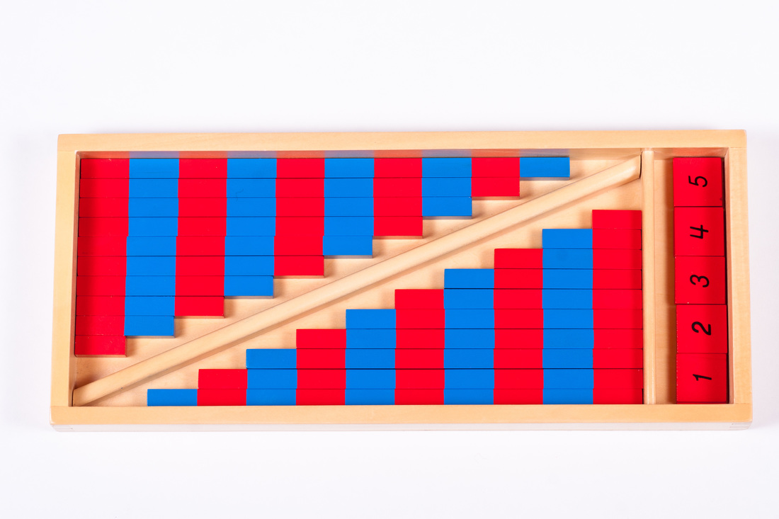Number rods help to introduce the concept of counting and simple addition/subtraction